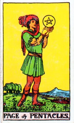 Page of Pentacles tarot card meaing