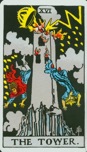 The Tower. Coleman-Waite Tarot