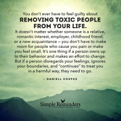 remove toxic people from life
